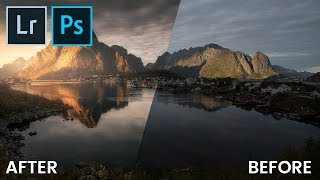 Create a glowing, colorful sunset Lightroom & Photoshop Editing | QE #54
