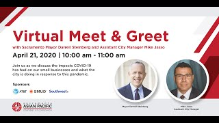 Virtual Meet & Greet with Sacramento Mayor Darrell Steinberg and Asst. City Manager Michael Jasso