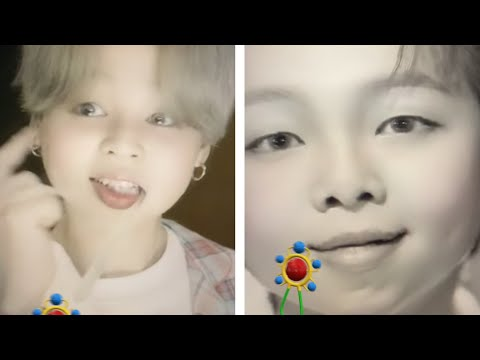 I put a baby filter on BTS Life Goes On MV.