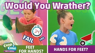 Feet For Hands or Hands For Feet? | Coop & Cami Ask the World | Disney Channel