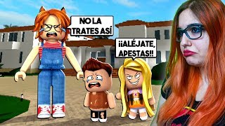 THE MOST INSOPORTABLE BABY AND PIJA!! BULLYING TO ROBLOX (Meep City) CHILDREN 😱