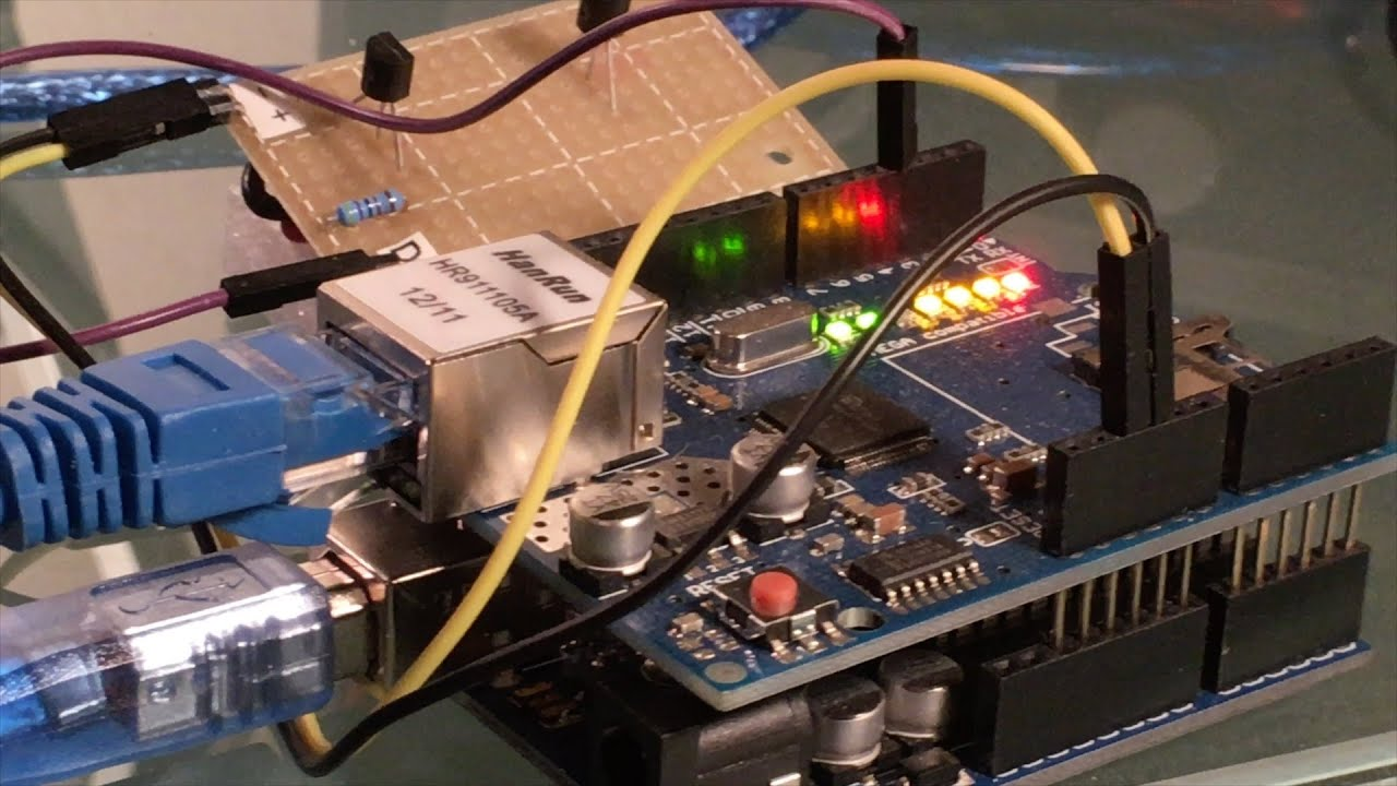 Arduino Temperature Data Displayed Over the Web Using an Ethernet Shield
