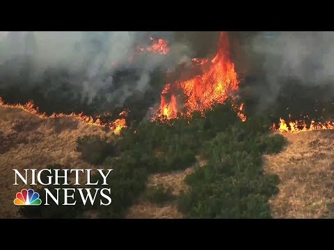 Recreational Drones Are Increasingly Hampering Efforts To Fight Wildfires | NBC Nightly News