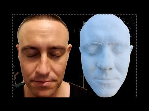 How To Life Cast Yourself in 1 minute - Identical Ceramic Face - Taiz  Lifecast Stystem