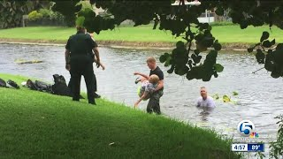 Palm Beach County Sheriff's Office deputies find, rescue missing woman in canal
