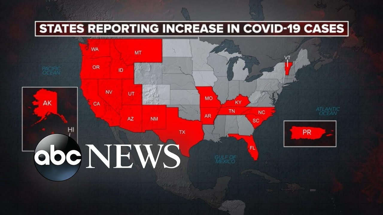 New coronavirus hotspots emerge as state cases spike amid reopening l ABC News