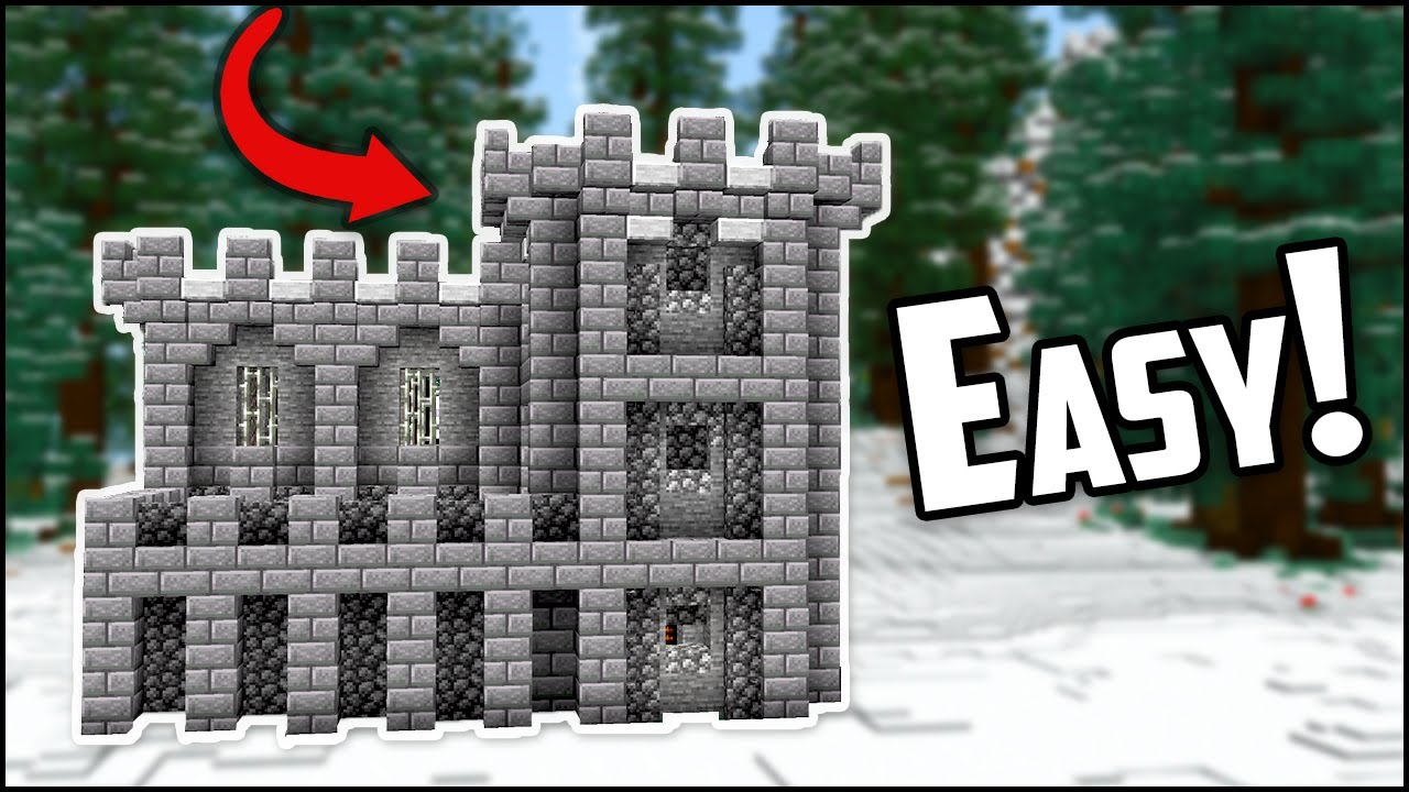 How To Build A Minecraft Castle Fort Easy Youtube