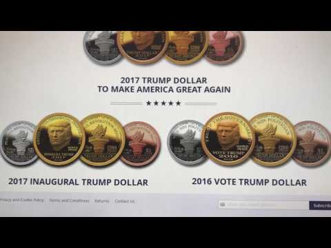 2017 Trump Dollar First Day Of Issue Inaugural Mintage Number