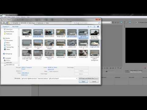 Sony Vegas Pro Basics FOUR: Media Bins and Importing Assets