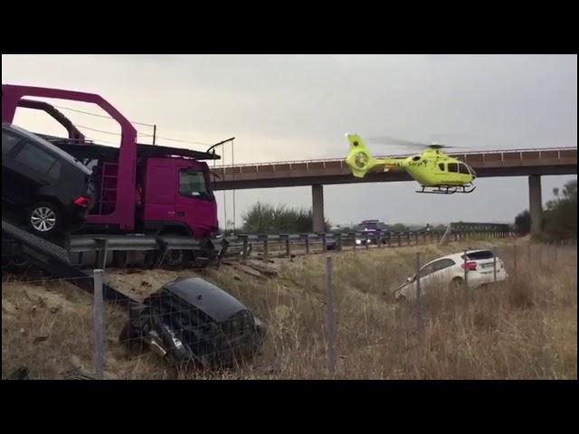 Accidente en la A 62