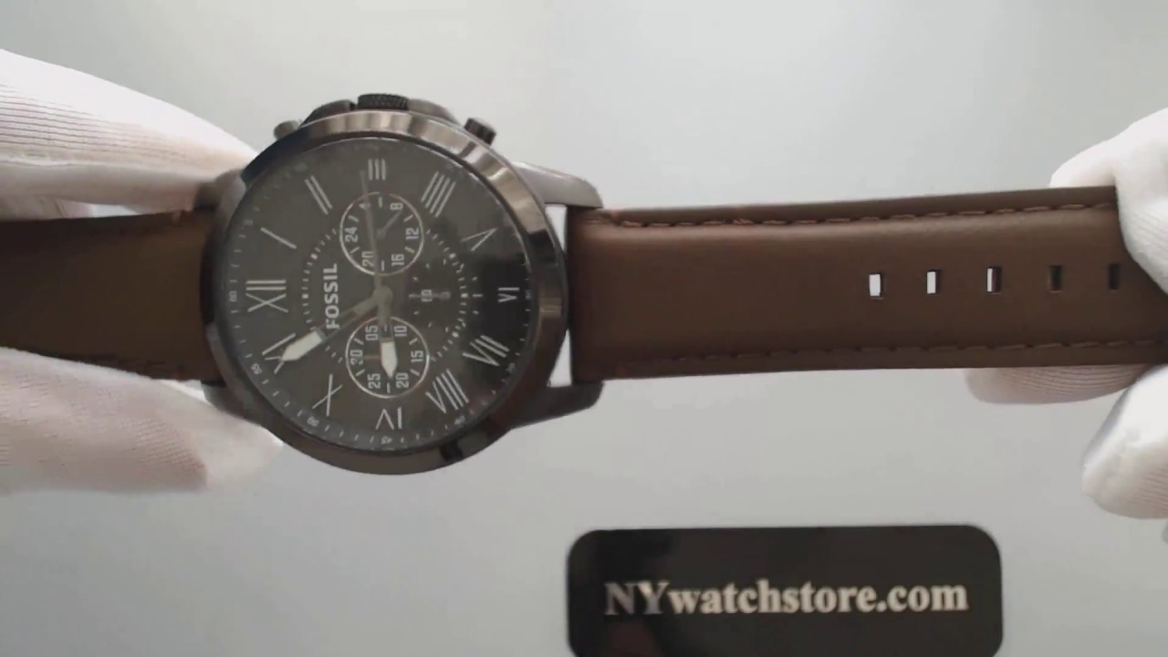 Men s Fossil Grant Chronograph Watch FS4885 - YouTube e746b327d64