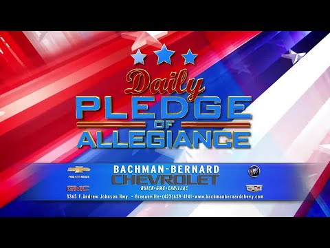 Daily Pledge of Allegiance: Hannah Cohen, Heather Cannon, Kalie McKinney - Girls Inc. Johnson City
