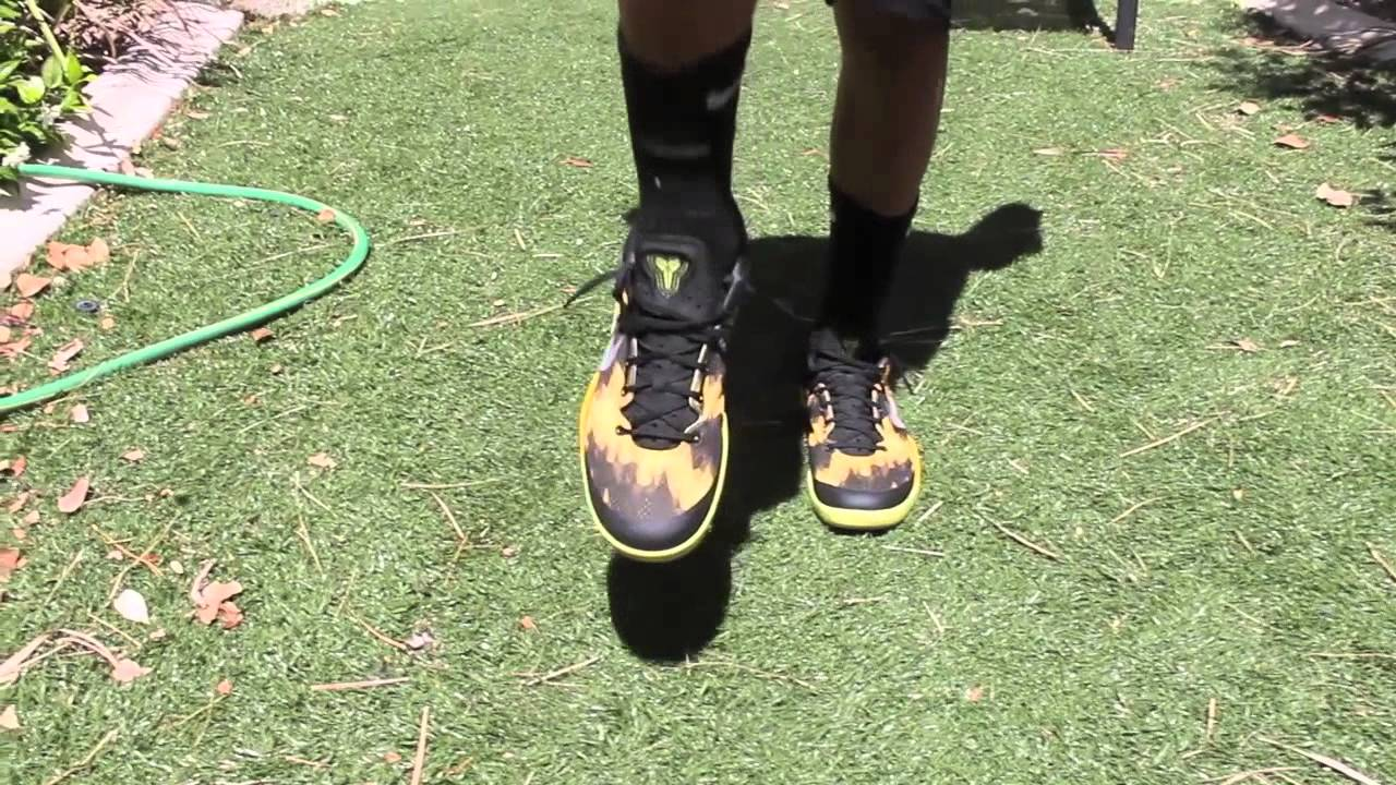 c47b9f3141bc Nike Kobe 8 System  Sulfur  On Feet (HD) - YouTube