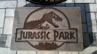 Jurassic Park Craft How To Wood Burn