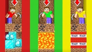 Minecraft BUT You Can ONLY Dig STRAIGHT DOWN!