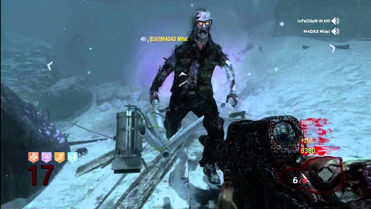Black Ops Zombies Killing George Romero With 4 Players Ray Gun Hyena Infradead Mustang