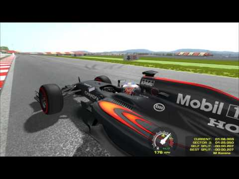 rFactor F1 Mclaren Honda MP4-31 4096x4096px Texture for