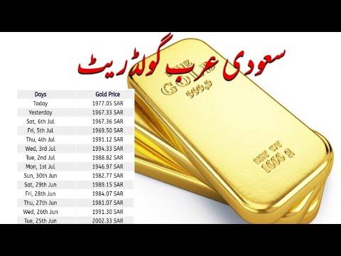 Today Gold Price In Saudi Arabia Per Tola Youtube