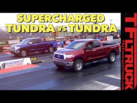 Drag Race: How Fast Is A Supercharged Toyota Tundra?