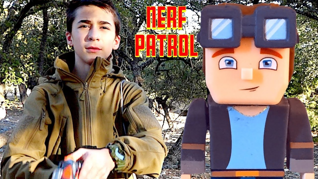 Nerf Patrol and Airsoft vs Minecraft - Part 2! - YouTube