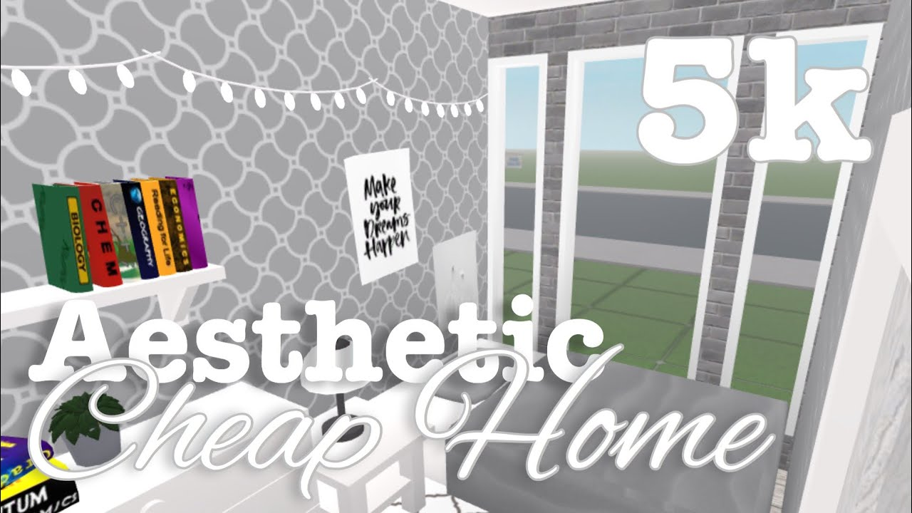 5k No Gamepass Aesthetic Cheap Home Bloxburg Youtube