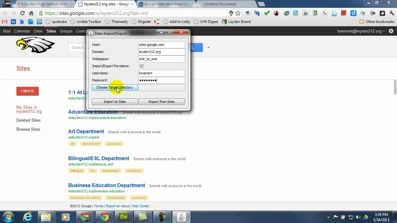 google sites business examples
