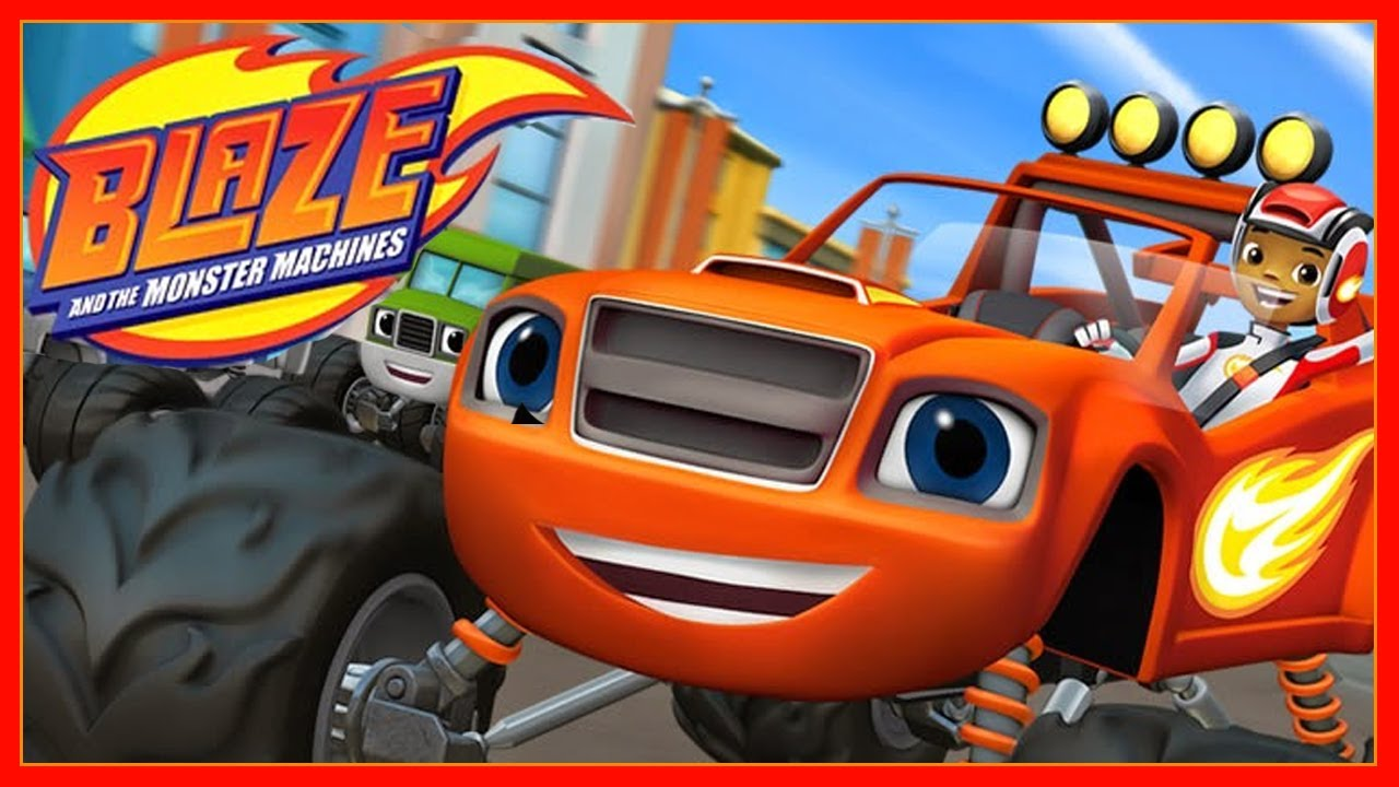 It's just a graphic of Playful Pictures of Blaze and the Monster Machines