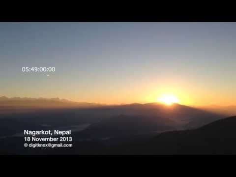 Nagarkot, Nepal: Most Spectacular Sunrise | TIMELAPSE [6x] [1080p] [HD]