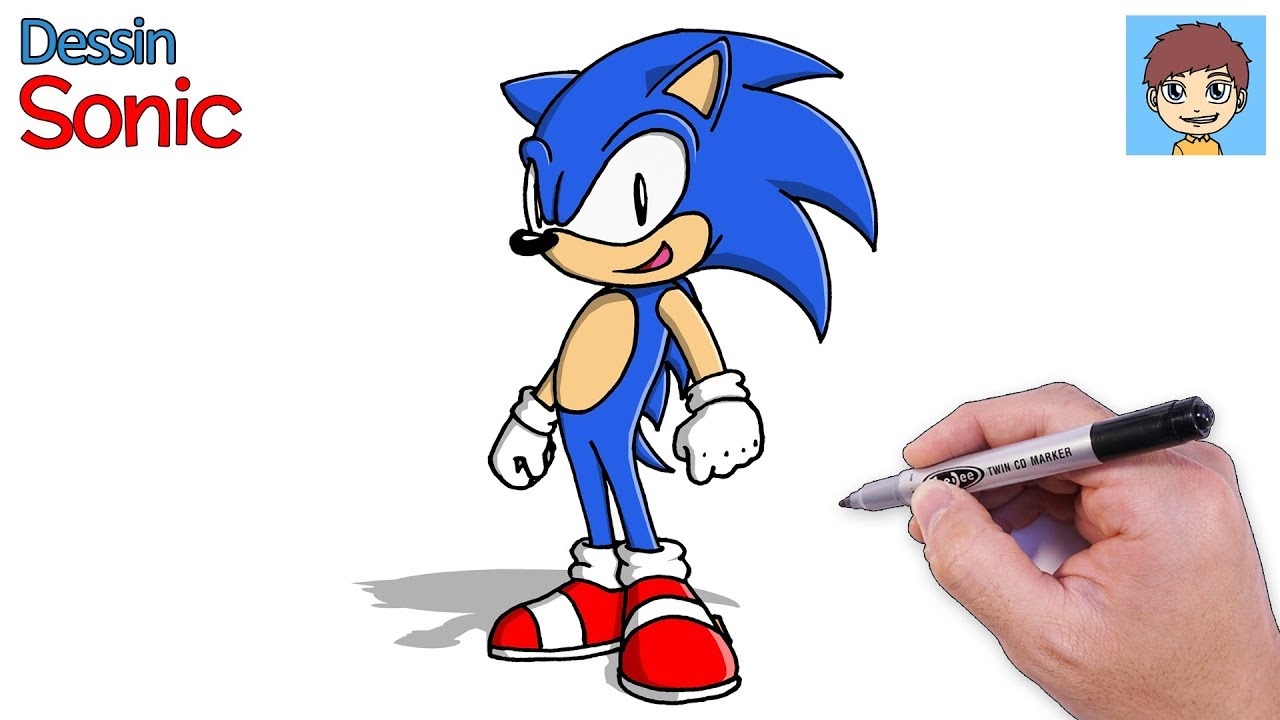 Comment Dessiner Sonic Facilement Dessin Facile A Faire Dessin