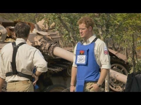 Prince Harry visits Angola minefields