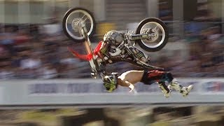 Cliffhanger vs Rock Solid Backflip - Next Level FMX Contest