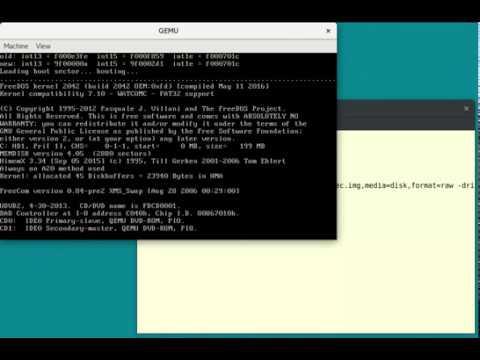 Installing FreeDOS 1 2 on QEMU
