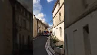 Incendie rue du Gond à Angoulême