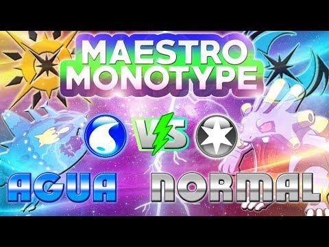 MONOTYPE AGUA vs MONOTYPE NORMAL! WISHIWASHI Y SU SORPRENDENTE MOVIMIENTO Z! MAESTRO MONOTYPE