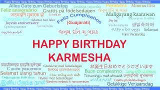 Karmesha   Languages Idiomas - Happy Birthday