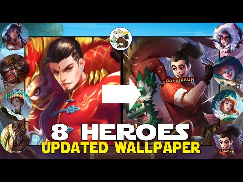 Updated Wallpaper Portraits For 8 Heroes Chou Alpha Aurora Eudora Ruby And More Mobile Legends Youtube