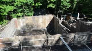 Concrete Forms Foundation Walls - 7 - My Garage Build Hd Time Lapse