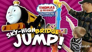 TrackMaster Sky-high Bridge Jump! Thomas Tank & Friends    Train Lab Toys Trains videos for kids