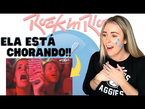 *EMOTIONAL* AMERICAN REACTS TO BRAZIL BEST CROWD IN THE WORLD! / ROCK IN RIO/ INTERNATIONAL COUPLE