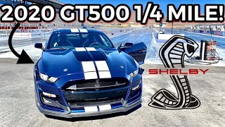 FINALLY 2020 SHELBY GT500 1/4 MILE RESULTS FROM LAS VEGAS!