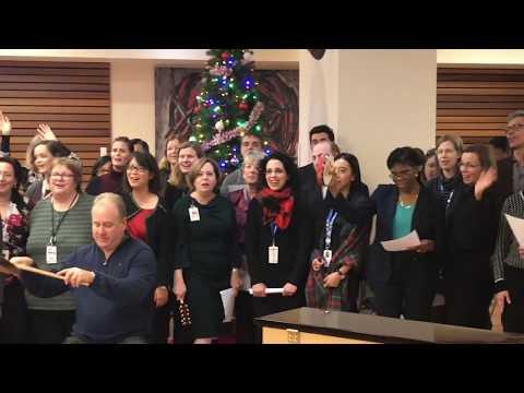Toronto Rehab Staff Giving Together