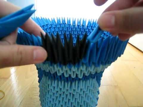 tutorial jarron origami