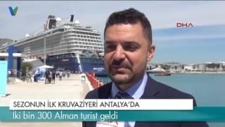 Sezonun ilk kruvaziyeri Antalya'da