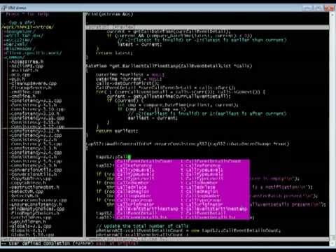 Vim demo of plugins and features that I use when I code in C/C++