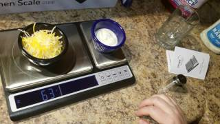 Smart Weigh Culinary Kitchen Scale Dual Platform Weight-loss Nutrition Baking Cooking