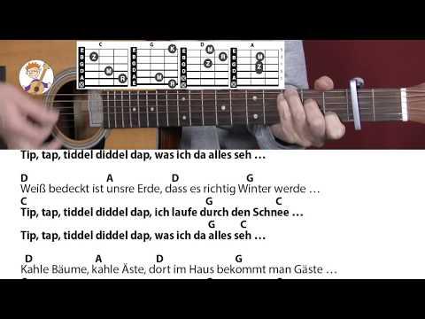 Tip, tap - Stephen Janetzko, Winterlied mit Akkorden & Text für Gitarre