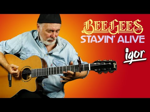 Stayin' Alive – Bee Gees – fingerstyle guitar cover