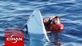 Batan teknedeki mülteciler böyle kurtarıldı