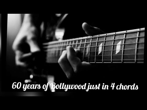 60 years of Bollywood in just 4chords | easy chords tutorial lesson