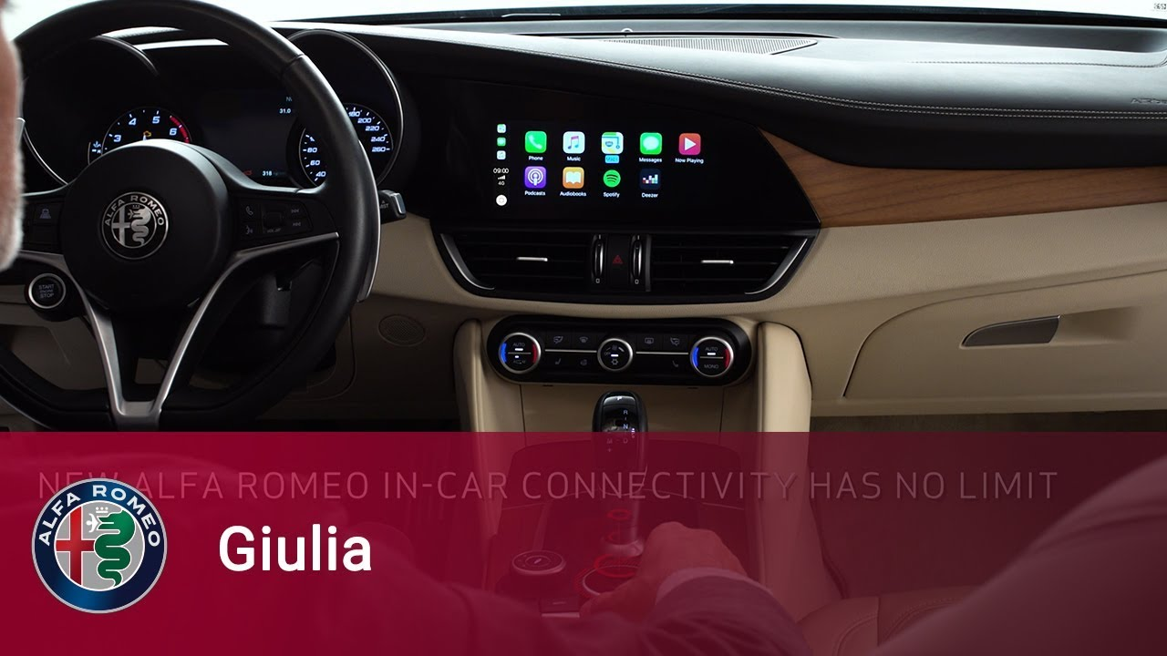 Alfa Romeo Giulia Apple Carplay Integration For Iphone